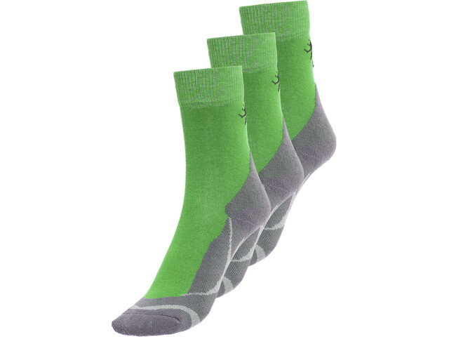 axant Trekking Calze pacco da 3 Bambino, verde/grigio